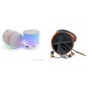 ETN Music Mini Bluetooth Speaker(S10 Speaker) And Headset (JBL_ Headset) for SAMSUNG GALAXY S DUOS 3