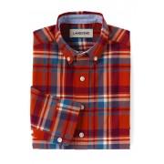 ランズエンド LANDS' END ボーイズ・ポプリン・チェック・シャツ【キッズ・子供服・男の子】(ブライトカイエンプラッド)