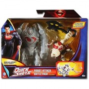 Warner Brothers Man of Steel Quick Shots Robot Attack Battle Pack Figures Action Figures