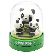 Solar Bobble Head Toy Figure Panda Family