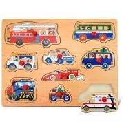 Puzzled Vehicles 1 Wooden Peg Puzzle