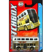 2013 Matchbox MBX Adventure City - Routemaster Double Decker Two-Story Bus by Mattel