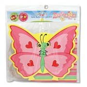 Melissa & Doug Sunny Patch Bella Butterfly Foam Hopscotch & Mollie Bollie Jump Rope Set