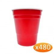 """American Red Plastic Party Cups - 285ml Minis (480 Pack)"""
