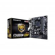 T. Madre Gigabyte GA-F2A88XM-D3HP, Chipset AMD A88X, Soporta, AMD A10/ A8/ A6/ A4/ AthlonX4 De Socket FM2+, Memoria, DDR3 2400(O.C.)/2133/1866/1600/1333 MHz, 64GB Max, Integrado, Audio HD, Red, USB 3.1 Y SATA 3.0, Micro ATX, Ptos, 2xPCIEx16.