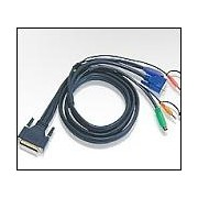 ATEN 2L-1703P :: KVM кабел, HD15 M + 2x PS2 M + 2 Audio plugs >> DB-25 Male, 3.0 м