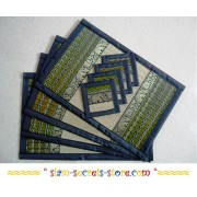 Wicker Placemat Set, Premium Quality Decorative Green Reed