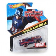 Hot Wheel Marvel Characters Captain America Car Multi Color