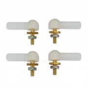 DIY M2 / M3 Nylon Ball Head Hebillas para R / C AiR / Modelo de Artesania - Blanco