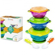 Lullababy Baby Bowls Suction Bowl Set with Spoon and Fork