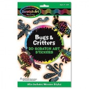 Melissa & Doug Scratch Art Magic Bugs and Critters Sticker Kit (20 Stickers)