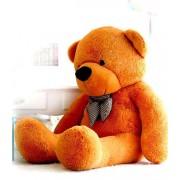 5 Feet Golden Brown Big Smile Bow Teddy Bear