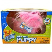 Cepia Zhu Zhu Puppies Series Adorable Moving ZhuZhu Puppy - Pink LooLah with Brush