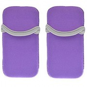 CASETIME Microsoft Arc Mouse Case Pack of 2 Neoprene Protective Soft Pouch Cover for Microsoft Arc Touch Mouse(Purple)