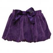 Ljubičasta mini suknjica od pliša