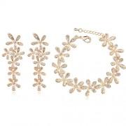 Set bijuterii Exquisite Gold Flowers