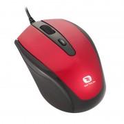 Mouse optic Serioux Pastel 3300, USB, Negru/Rosu