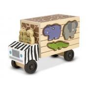 Melissa & Doug - 15180 - Jeu De Société Educatif - Sauvetage D'animaux Camion De Tri Par Formes