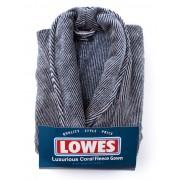 Lowes Fine Striped Fleece Gown - Blue 2XL