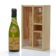 Caisse Bois Vieille Prune de Souillac Louis Roque 35cl et ses 2 verres