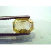 3.66 Ct Unheated Untreated Natural Ceylon Yellow Saphire Pukhraj