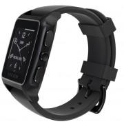 SmartWatch VECTOR Watch Meridian, negru mat, curea neagra din silicon