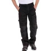 Bundhose für Beruf und Freizeit, Farbe schwarz, mit Kniebesatz und Reflektoren, Gr. 48