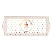 Bandeja rectangular decorada con puntos dorados | Comprar bandejas