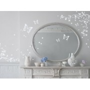 Bambizi Ltd Hermes Butterfly Wall Stickers (White Vinyl)