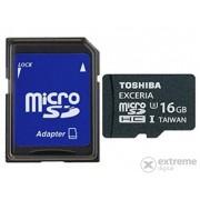 Card memorie Toshiba Exceria 16GB microSDHC UHS3, cu adaptor