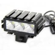 UltraFire LW-02352J 3-LED 2000lm 5-modo bicicleta blanco fresco w / Display Digital - negro (4 x 18650)