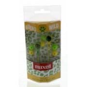 Casca in ureche 3.5mm verde cu galben Audio Wild Maxell - vit_EARPHONE-AUDIOWILDGY-MXL