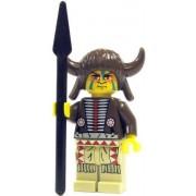 Lf21 B5 Lego Western Loose Mini Figure Indian Medicine Man With Spear