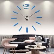home decor quartz diy wall clock clocks horloge watch living room metal Acrylic mirror 20 inch (?Sky blue color)