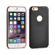 For iPhone 6 0.3mm Ultrathin PU Leather Back Cover Protective Case(Black)