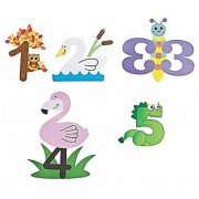 Learn Numbers 1 To 5 Number Animal Crafts Set 5 Number Paper Art Kits Bundle
