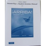 Answer Key for the Student Activities Manual for Arriba! by Eduardo Zayas-Bazan
