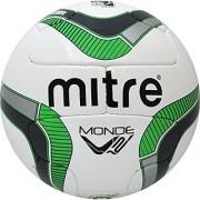 Mitre #5 Monde V12S w/NFHS (Wh/Gry/Grn) Soccer Ball