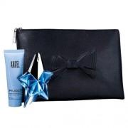 Thierry mugler angel confezione regalo 25 ml edp + 50 ml lozione corpo + borsetta donna