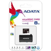 Card memorie AData microSDHC 8GB clasa 4 / Card Reader OTG USB negru