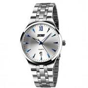 Masculino Relógio de Pulso Quartzo Japonês Calendário / Impermeável Aço Inoxidável Banda Prata marca- SKMEI