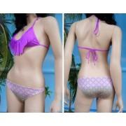 Bikini Frida X top reggiseno a triangolo con frange e slip largo