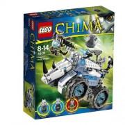 LEGO Legends Of Chima - Playthèmes - 70131 - Jeu De Construction - Le Char Bouclier De Rogon