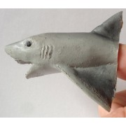 All Natural Hand Made Latex Great White Shark Finger Puppet
