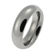 Schumann Design Anello Unisex acciaio inossidabile Zirconia cubica