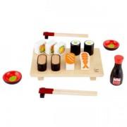 Jucarie eco din lemn Set de facut Sushi Hape