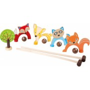 Small Foot Croquet set animal 8 delig 44 x 19 x 5 cm