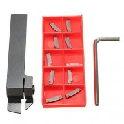 ILS MGEHR1616 Parting Off Turning Tool Holder With 10 pcs piezas MGMN200 Carbide Inserts Lathe Tools