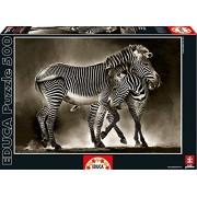 Educa 16359 - Puzzle 500 Pezzi, Tematica Zebre