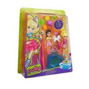 Jucarie Polly Pocket PET Play Time 2 Dolls